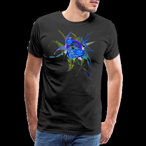Blue flower - Blå blom - Premium-T-shirt herr