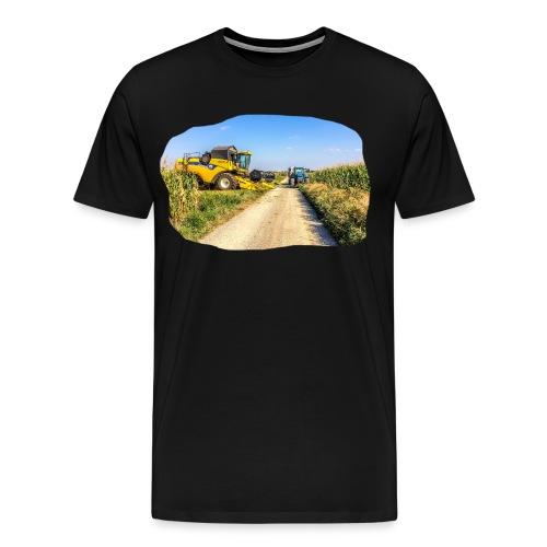 Mähdrescher und Traktor - Männer Premium T-Shirt