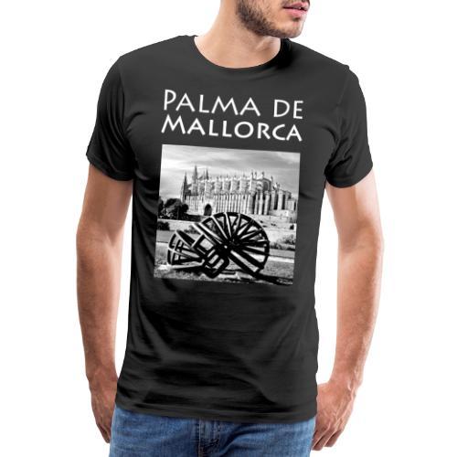 Palma de Mallorca mit Cathedrale Heiligen Maria - Männer Premium T-Shirt