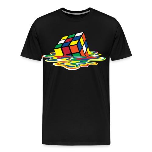 Rubik's Cube Melted Colourful Puddle - Premium T-skjorte for menn