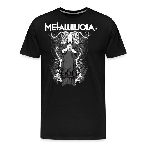 Metalliluola logo ja Demoniac 666 - Miesten premium t-paita