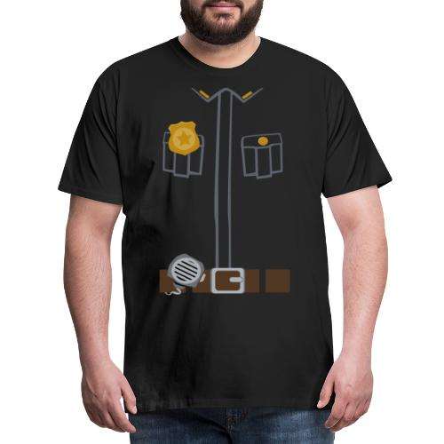 Police Tee Black edition - Men's Premium T-Shirt