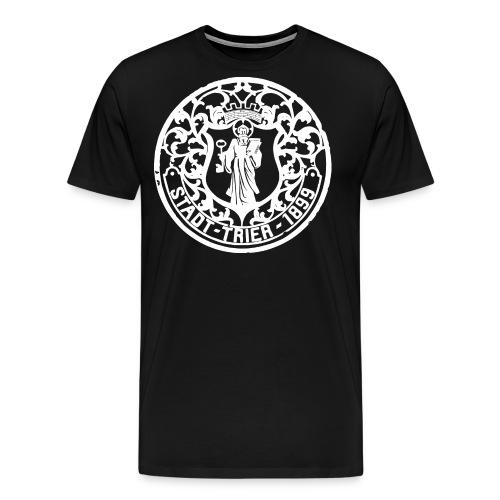 Rucksack historischer Kanaldeckel von Trier 1899 - Männer Premium T-Shirt
