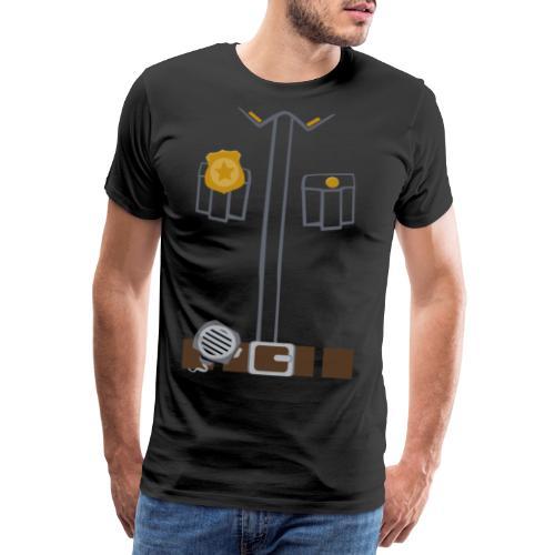 Police Costume Black - Men's Premium T-Shirt
