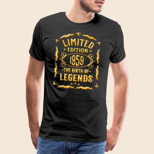 1959 Geboren - Geschenk T-Shirt für 60. Geburtstag - Men's Premium T-Shirt