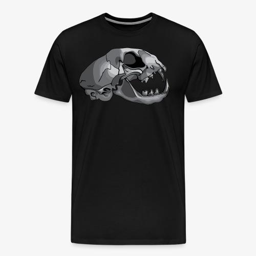 cat skull - Men's Premium T-Shirt