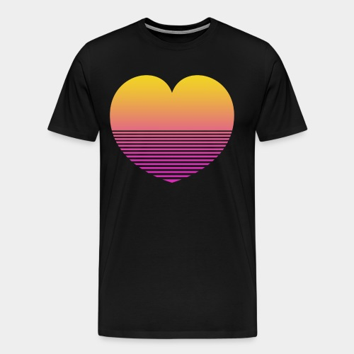 Synthwave heart - T-shirt Premium Homme