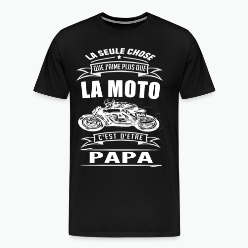 PAPA BIKER - T-shirt Premium Homme