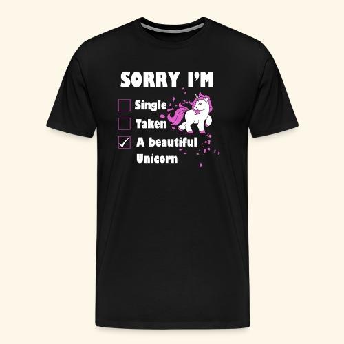 lustiges Beziehung Einhorn T-Shirt - Männer Premium T-Shirt