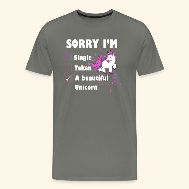 lustiges Beziehung Einhorn T-Shirt