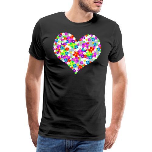 Blumenherz - Männer Premium T-Shirt