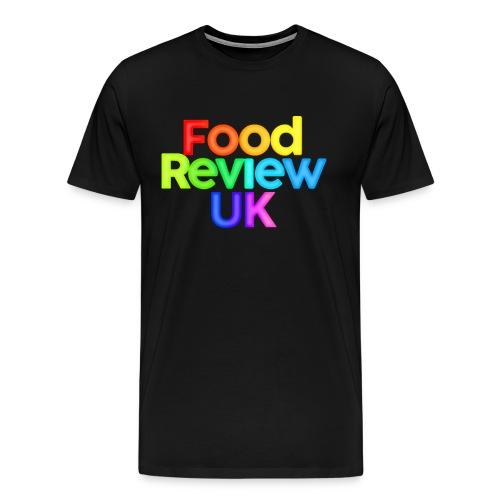 Food Review UK Logo Rainbow Variant - Men's Premium T-Shirt