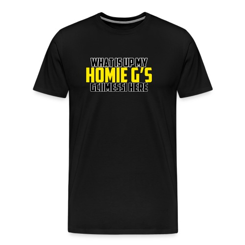 What is up my home g s logo png - Men's Premium T-Shirt