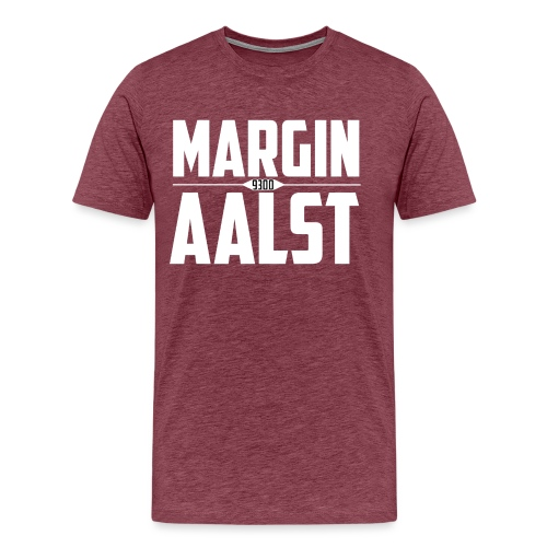 MARGINAALST wit - Mannen Premium T-shirt