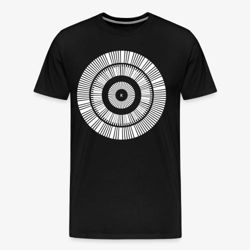 Kunstrukt Barcode Kreis - Männer Premium T-Shirt