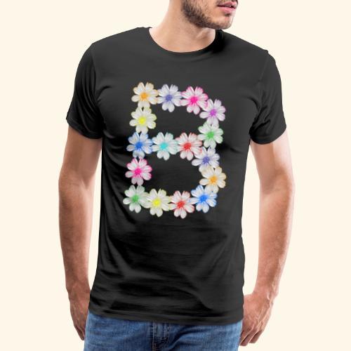 Buchstabe B aus Blumen, floral, Kosmee Blüten - Männer Premium T-Shirt