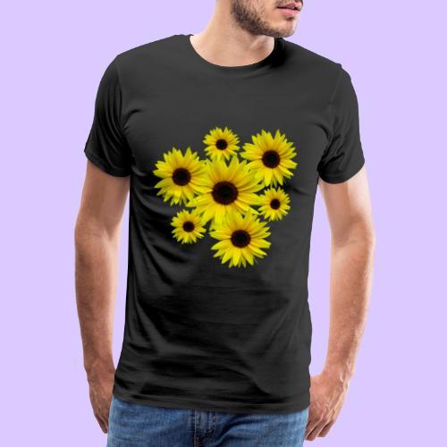 Sonnenblumenstrauß, Sonnenblumen, Blumen, Blüten - Männer Premium T-Shirt