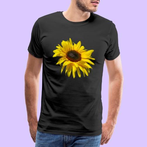 blühende Sonnenblume, Sonnenblumen, Blumen, Blüten - Männer Premium T-Shirt