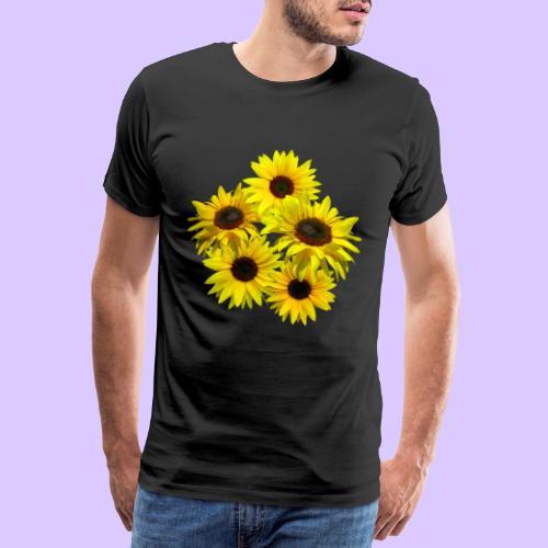 Sonnenblumenstrauss, Sonnenblume, Sonnenblumen - Männer Premium T-Shirt