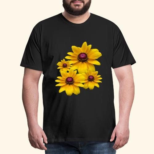 gelb blühende Sonnenhut Blumen, Blüten, floral, - Männer Premium T-Shirt