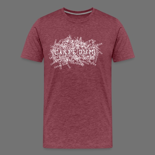 carpe diem (white) - Men's Premium T-Shirt