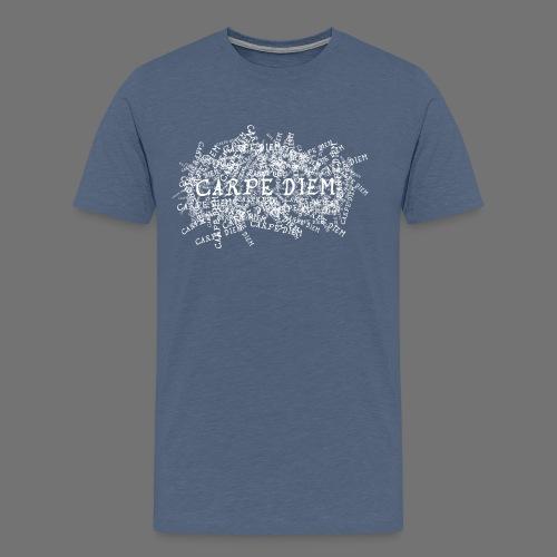 carpe diem (valkoinen) - Miesten premium t-paita