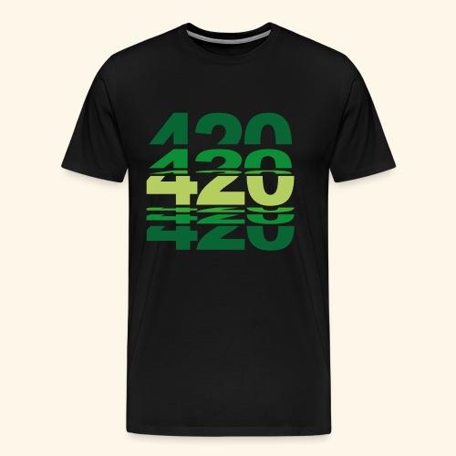 420 Weed Cannabis Ganja Geschenk - Men's Premium T-Shirt