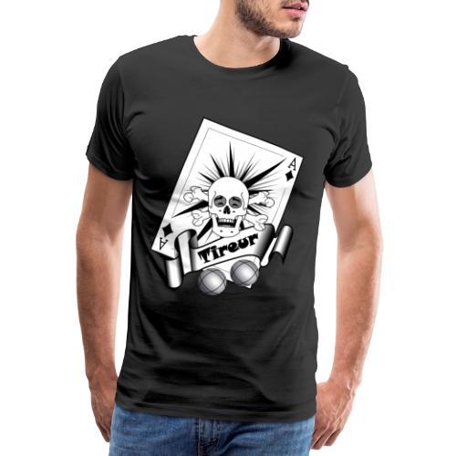 t shirt petanque tireur crane rieur carreau boules - T-shirt Premium Homme