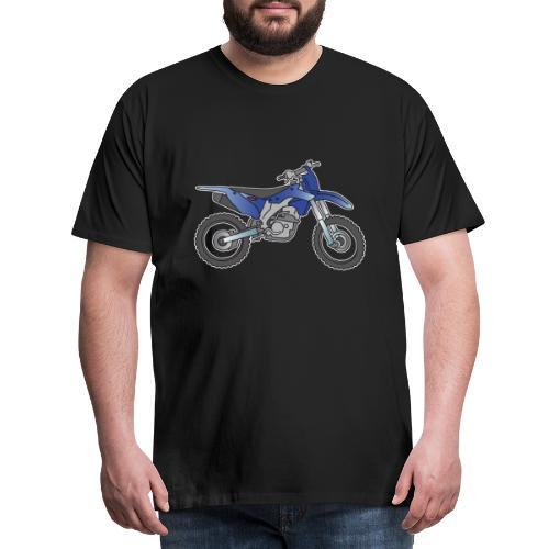 Blaue Motorcross Maschine - Männer Premium T-Shirt