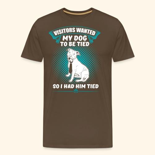 Lustiges Hunde Schlips T-Shirt - Männer Premium T-Shirt
