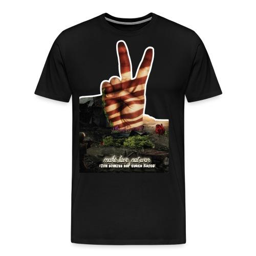 Make Love Not War Shirt - Männer Premium T-Shirt