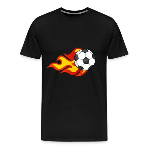 Flaming Football - Men's Premium T-Shirt