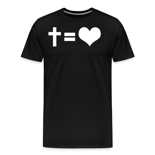 CROSS = LOVE - T-shirt Premium Homme