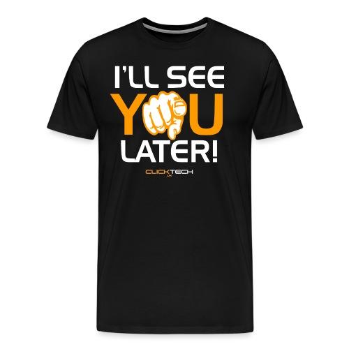 ClickTech UK See You Later Orange White - Men's Premium T-Shirt