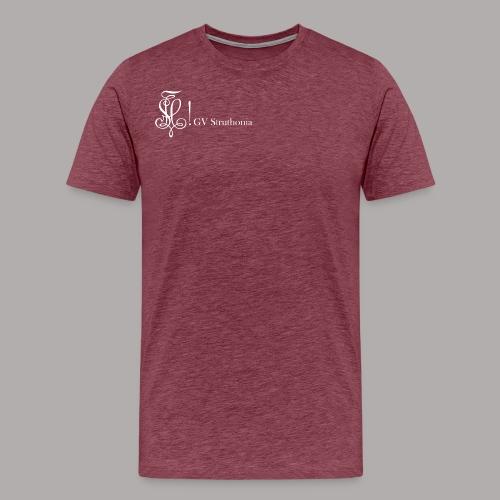Zirkel mit Name, weiss (vorne) - Männer Premium T-Shirt