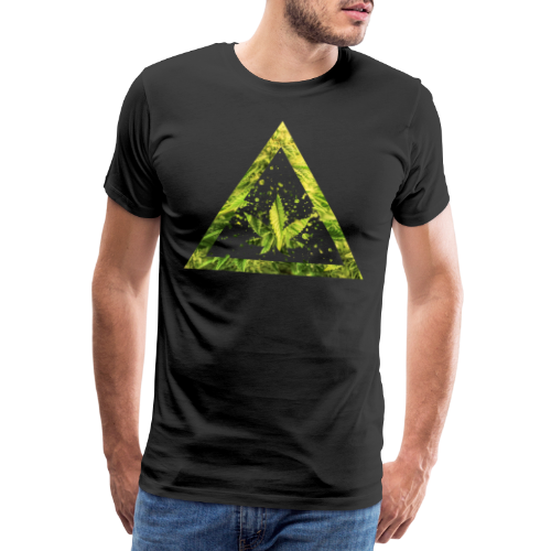 Marijuana Cannabisblatt Triangle with Splashes - Männer Premium T-Shirt