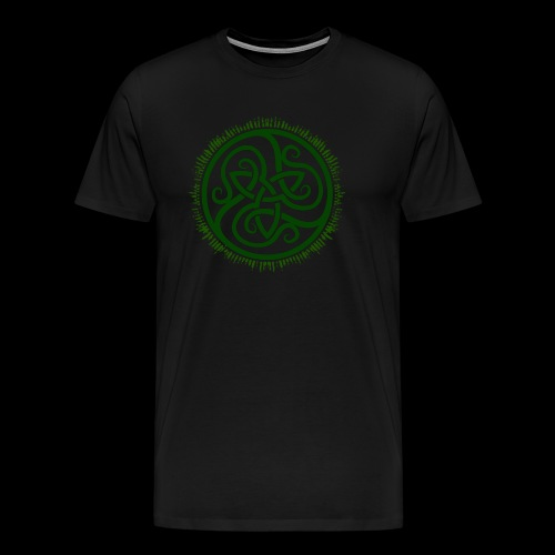 Green Celtic Triknot - Men's Premium T-Shirt