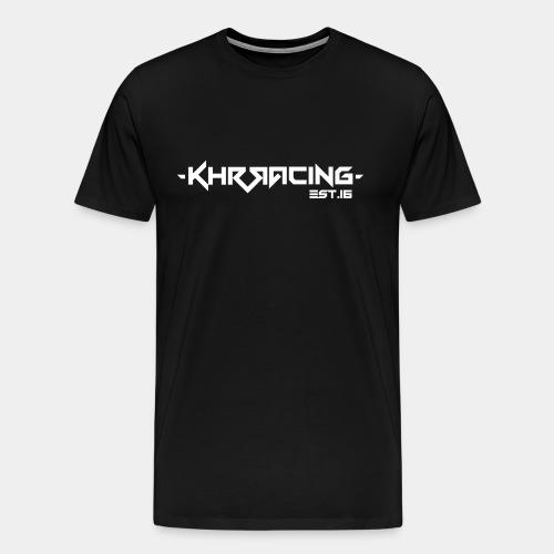 KHRRACING Schrift weiß - Männer Premium T-Shirt