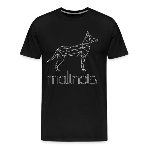Malinois Schäferhund Geometrisch - weiß - Männer Premium T-Shirt