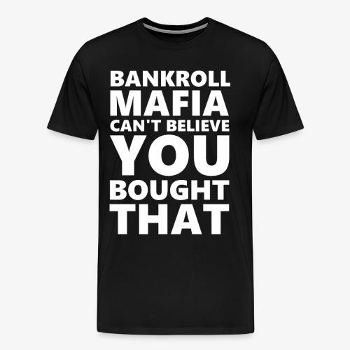 BANKROLLWHITE - Maglietta Premium da uomo