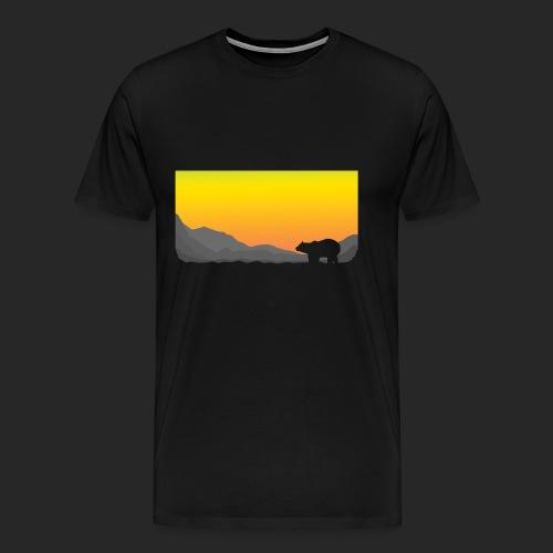 Sunrise Polar Bear - Men's Premium T-Shirt