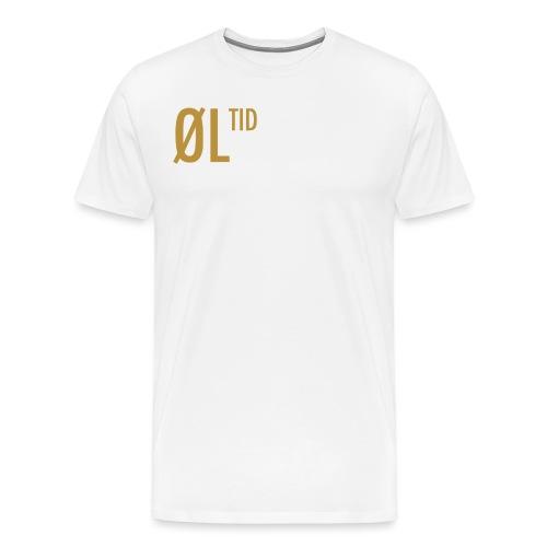 ØLTID ølbrygging hvit2 - Premium T-skjorte for menn