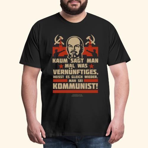 Sprüche T-Shirt Lenin Kommunist - Männer Premium T-Shirt