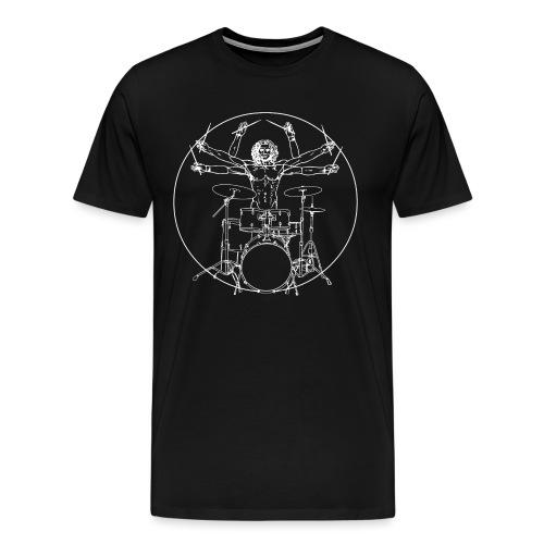 Da Vinci Rocks drums - T-shirt Premium Homme