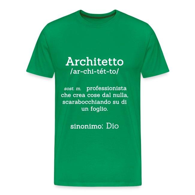 Architetto definizione - Sinonimo Dio - bianco
