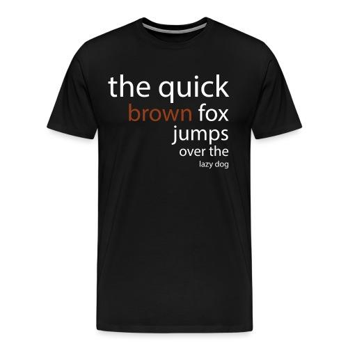 thequickbrownshirt - Men's Premium T-Shirt