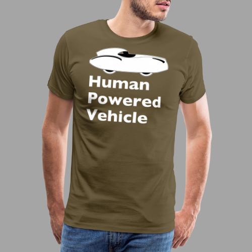 Quattrovelo Human Powered Vehicle white - Miesten premium t-paita