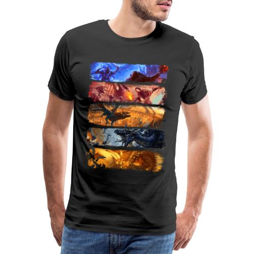 La grande bataille de pixels - Dungeons Dragons and D & D - T-shirt Premium Homme