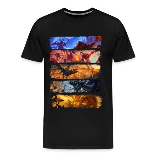 Great Pixel Battle - Dungeons Dragons ja D & D - Miesten premium t-paita