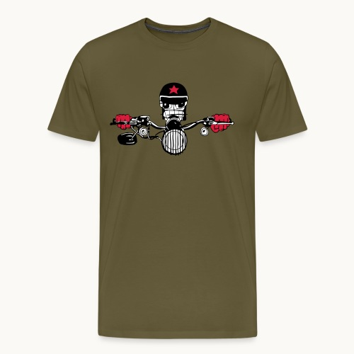 Motard Micky on the Road - T-shirt Premium Homme